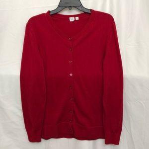 GAP Red Cardigan Sweater XL